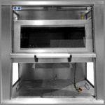 CleanLine 1000 EX | work area with brush access | sliding door locking
