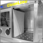 CleanLine 1500 | split working area through silicone curtain